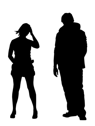 380x500 Silhouette Of A Couple Guy And Clipart Panda