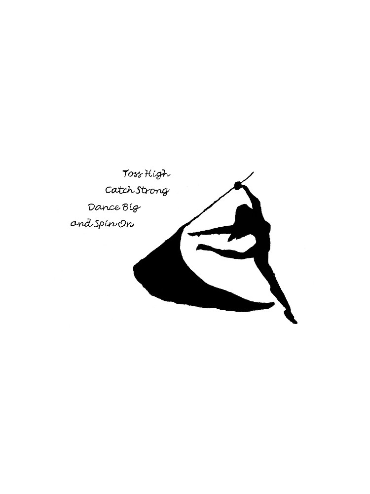 750x1000 Color Guard Silhouette And Quote Contrast Tank By Abbeyjkester