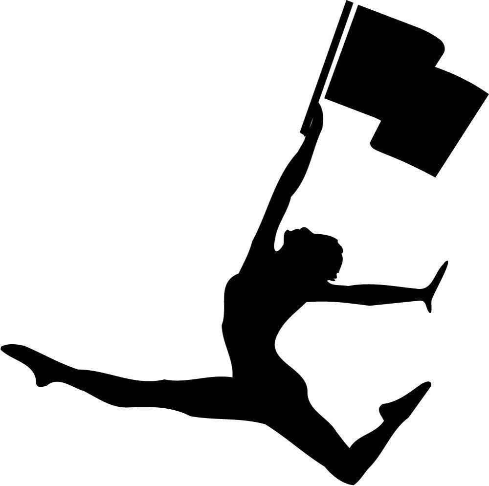 color guard silhouette at getdrawings com free for personal use rh getdrawings com colorguard clipart black and white colorguard clipart black and white