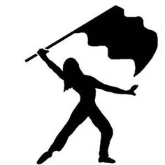 color guard silhouette at getdrawings com free for personal use rh getdrawings com color guard clipart free color guard flag and rifle clipart