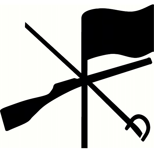 500x500 Color Guard Flag And Rifle Clipart