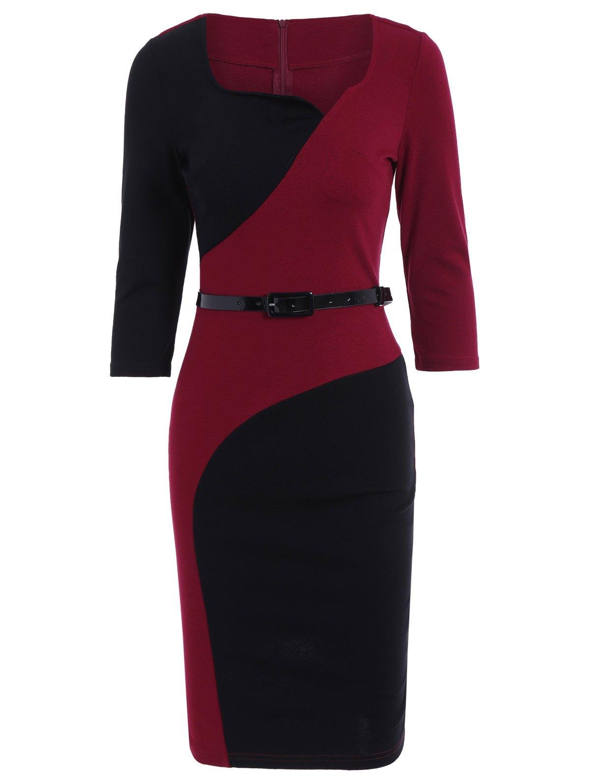 1200x1596 Color Block Pencil Dress