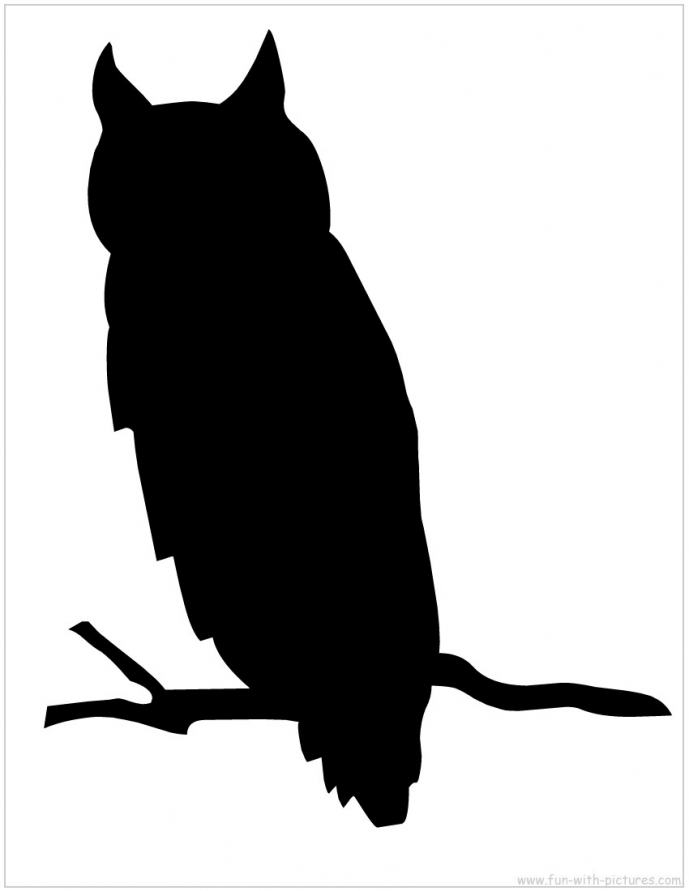 689x891 Owl Silhouette Template