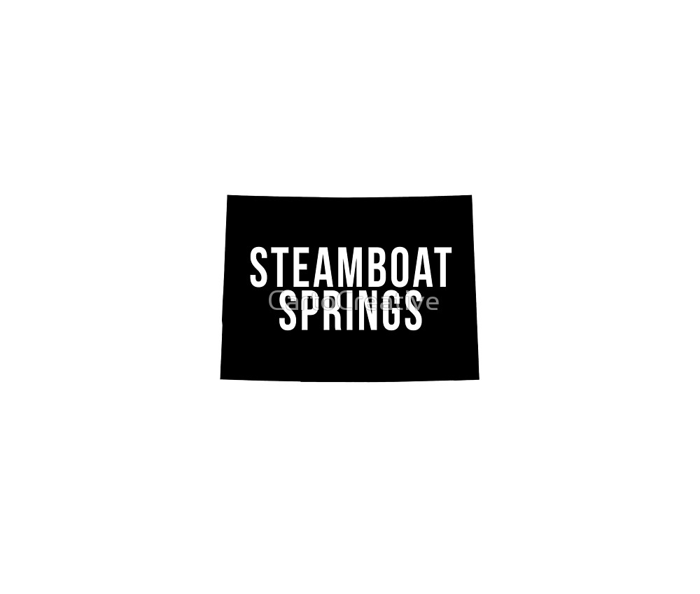 1000x849 Steamboat Springs, Colorado Silhouette By Cartocreative Redbubble