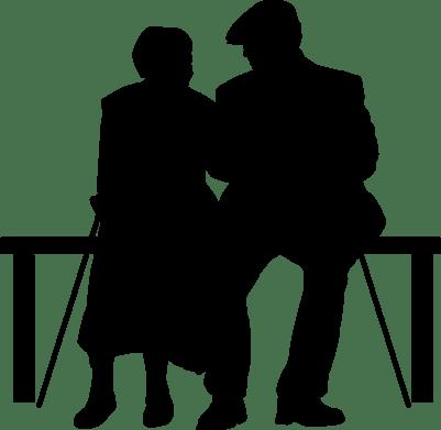 401x391 Silhouette Senior Couple Healthy Colorado Insurance