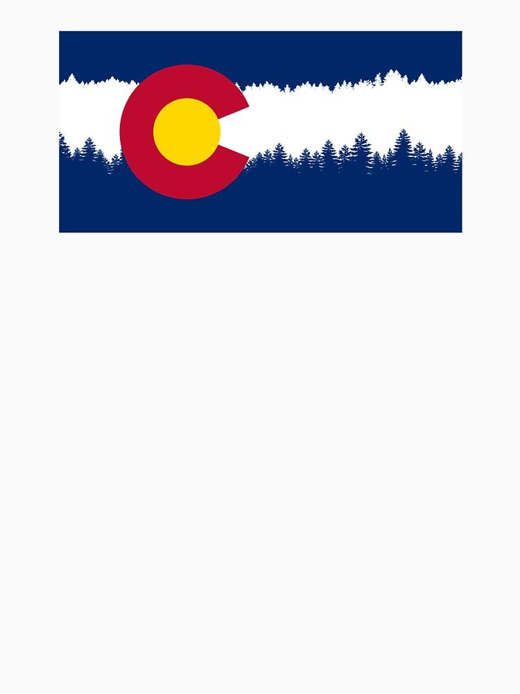 750x1000 Colorado Flag Treeline Silhouette Womens T Shirt By