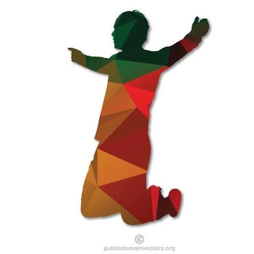 500x500 Colored Silhouette Of A Boy Public Domain Vectors