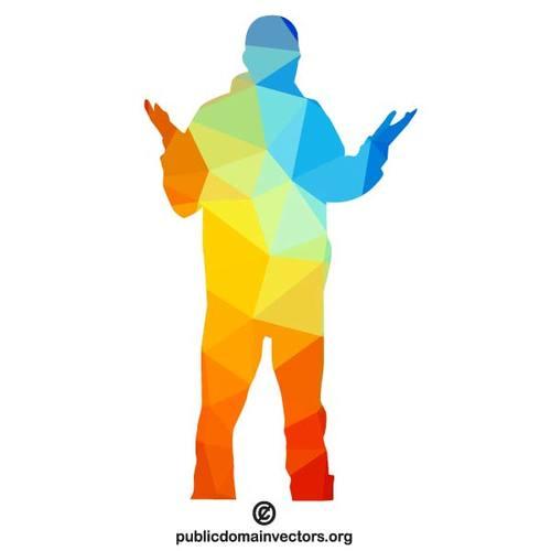 500x500 Colored Silhouette Of A Person Public Domain Vectors