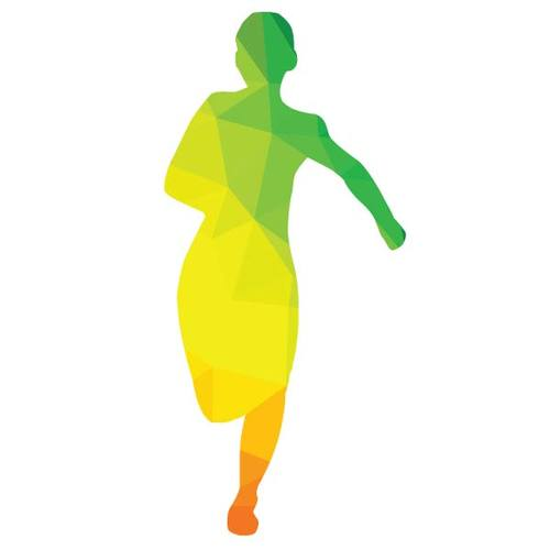 500x500 Colored Silhouette Of A Runner Public Domain Vectors