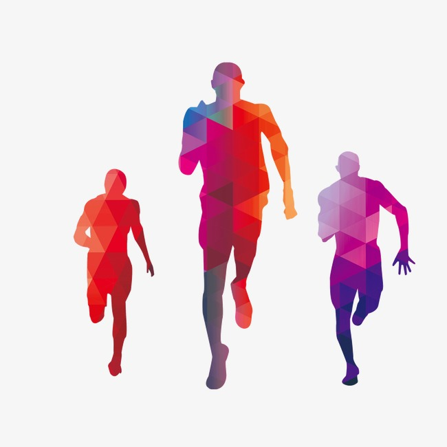 650x650 Run,silhouette Figures,colored Background, Run, Silhouette Figures