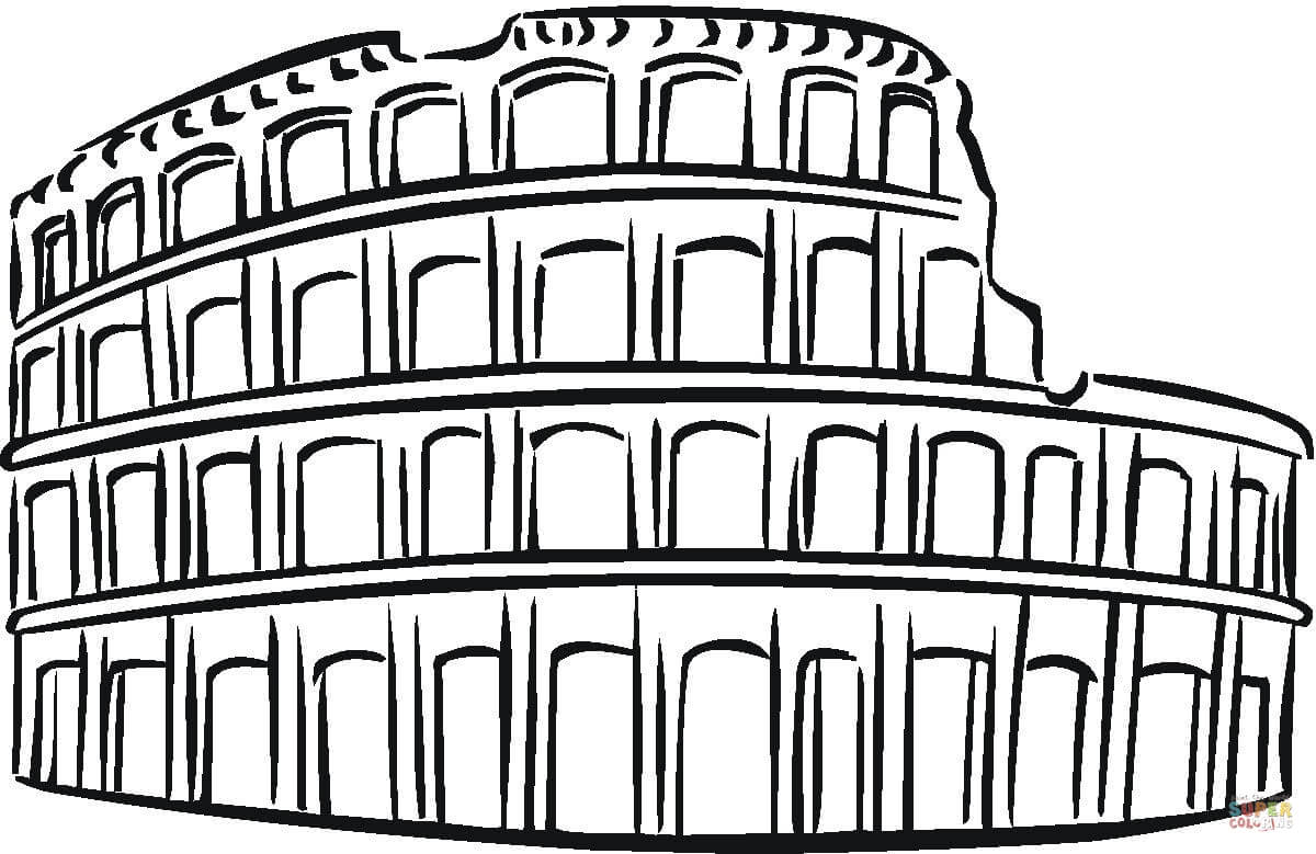 1200x779 Colosseum Clipart Black And White