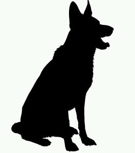 264x300 20 X Alsatian German Shepherd Dog Silhouette Craft Card Topper Any