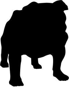 239x300 New Bulldog Dog Silhouette Vinyl Sticker Decal 20cm X 15cm 18