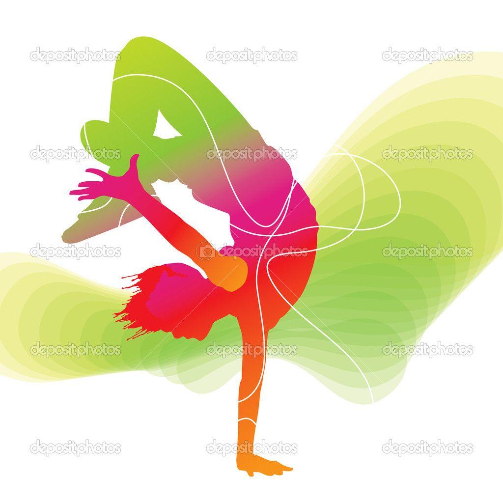 1024x1024 Hip Hop Dancers Colorful Silhouette