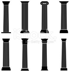 236x244 Greek Column Vector Silhouette