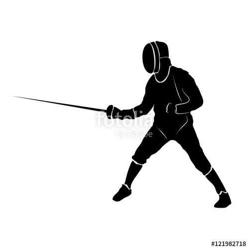 500x500 Fencer Silhouette Shape Form Stock Image And Royalty Free Vector
