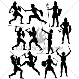 325x325 Gladiator Silhouettes Gl Stock Images