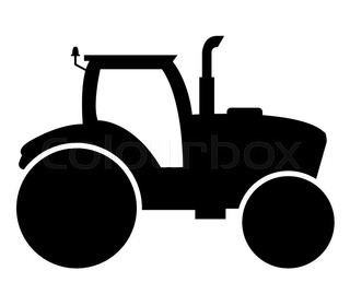 320x280 Modern Agricultural Vehicle Isolated Set. Agriculture Tractor Hay