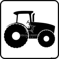 236x236 Vector Isolated Tractor And Combine Harvester Icons
