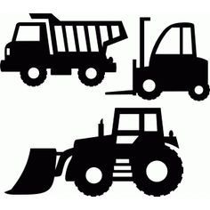 236x236 Vector Tractor And Combine Harvester Icons Paintings