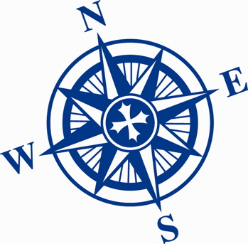 349x343 Compass Rose Silhouette