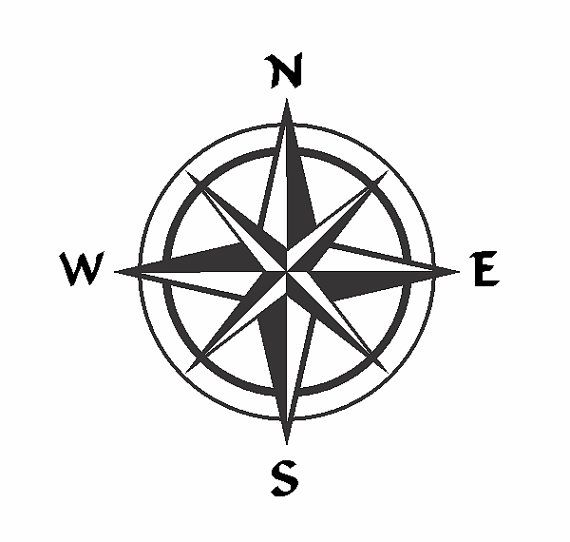 570x542 Compass Rose Single Layer Vector File By Usalaserpro On Etsy
