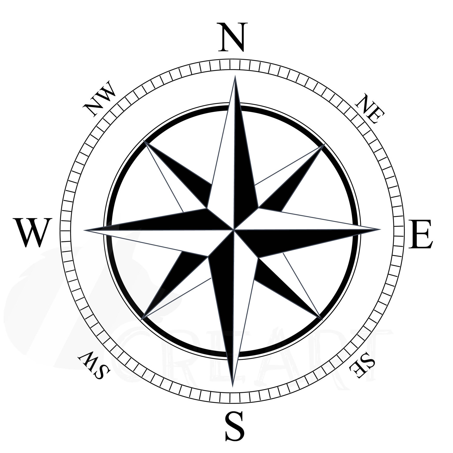 1500x1500 Compass Silhouette Pack Eps, Png, Jpg, Pdf, Svg, Vector
