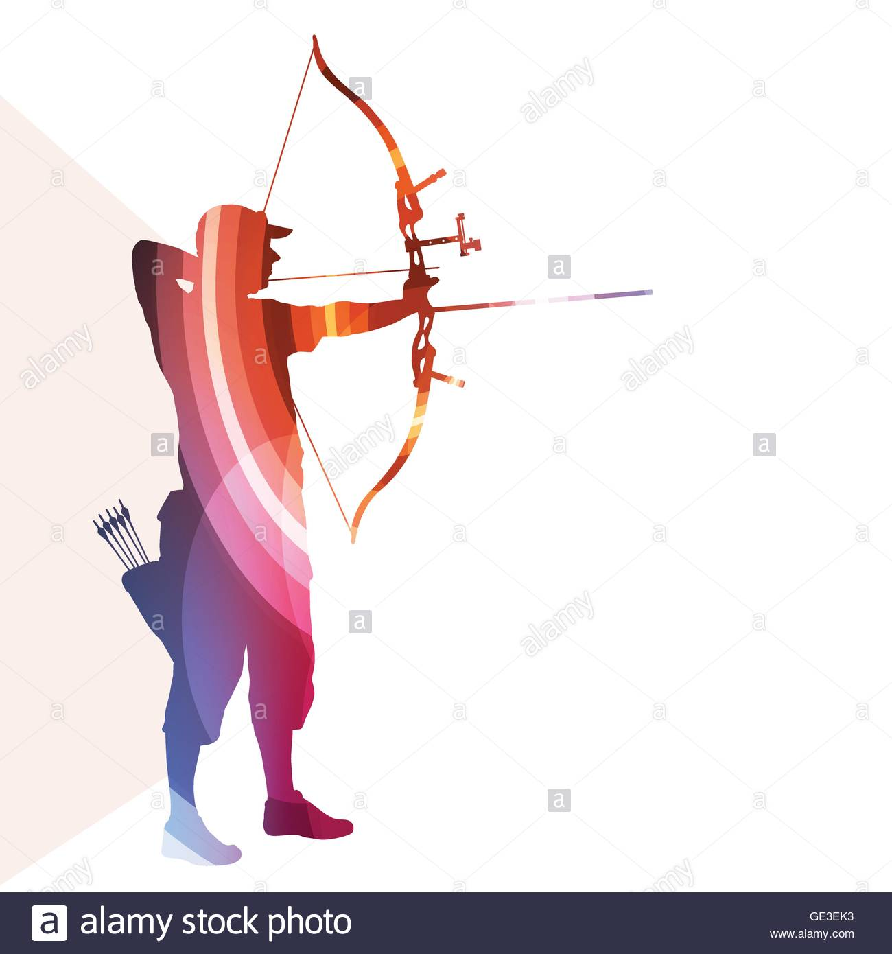 1300x1390 Archer Training Bow Man Silhouette Illustration Vector Background