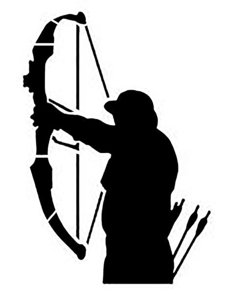 464x600 Bow Hunter Hunting Custom Stencil