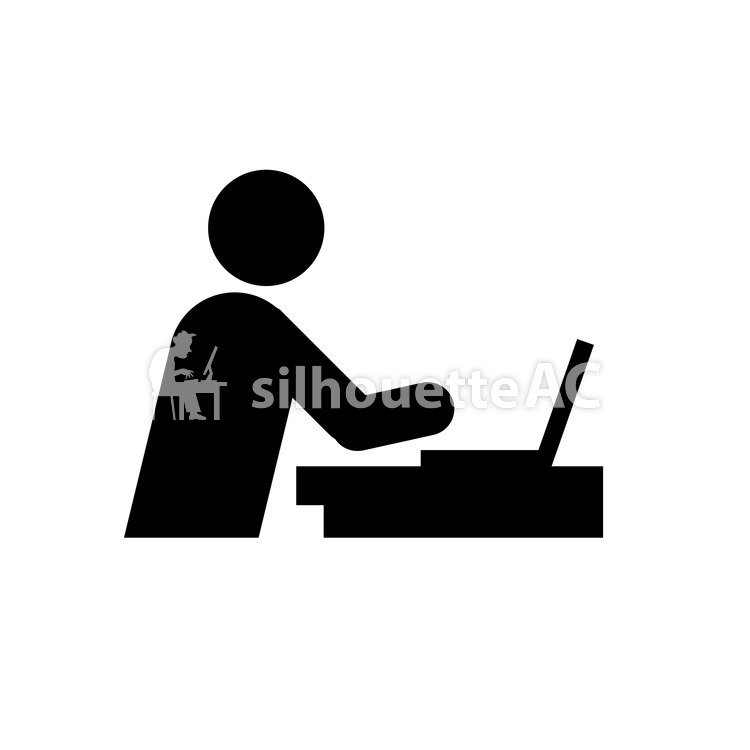 750x750 Free Silhouette Vector Pc, Icon, Note