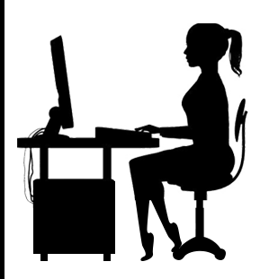 289x311 Gamer Girl On Computer Silhouette Silhouettes