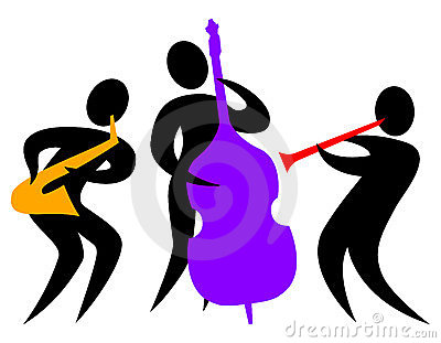 400x311 Jazz Band Clipart Free Silhouette