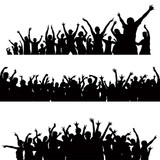 160x160 Crowd Silhouettes Vector Stock Image And Royalty Free Vector