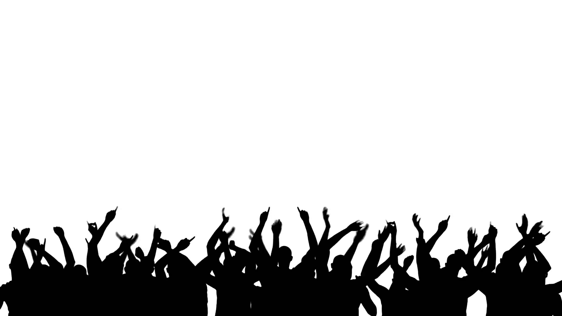 1920x1080 Party Crowd Silhouette 4k Motion Background
