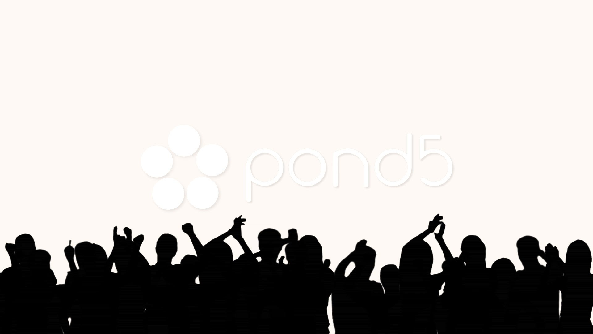 1920x1080 Concert Crowd Silhouette Vector