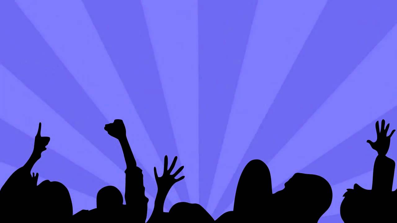 1280x720 Free Sunburst Party Crowd Video Loop
