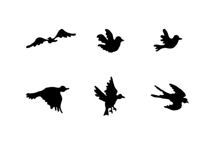700x490 Free Flying Bird Silhouette Vector Series