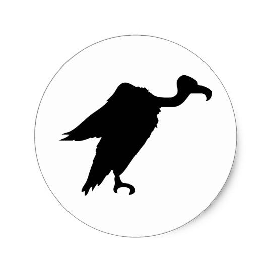 540x540 Vulture Silhouette Classic Round Sticker