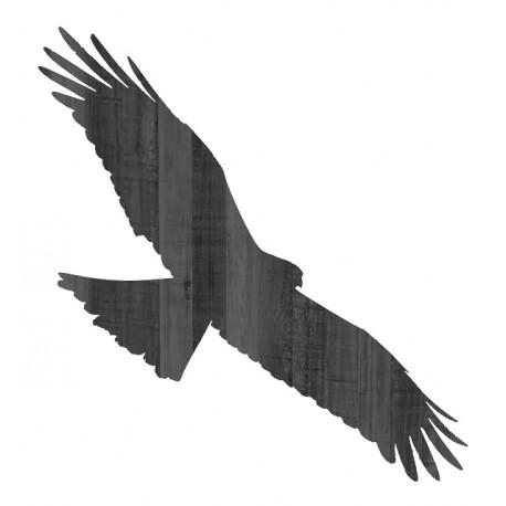 458x458 Silhouette Milan Noir En Bois Grandeur Nature Black Kite Wooden