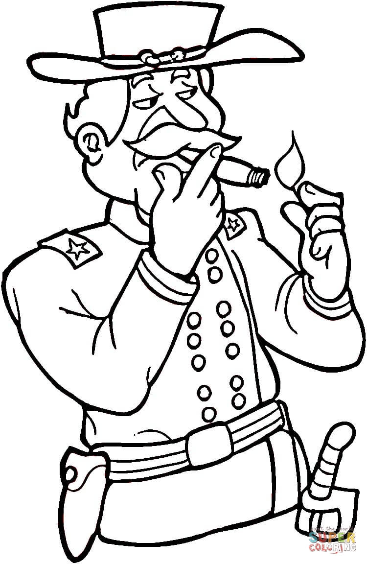 750x1152 Civil War Soldier Coloring Page Free Printable Coloring Pages