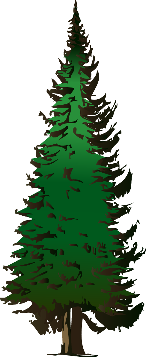 487x1187 Silhouette Tree Silhouette Of Pine Trees Clipart Clipartfest 3