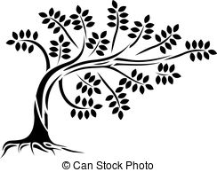244x194 Vector Realistic Silhouette Of Coniferous Tree Isolated