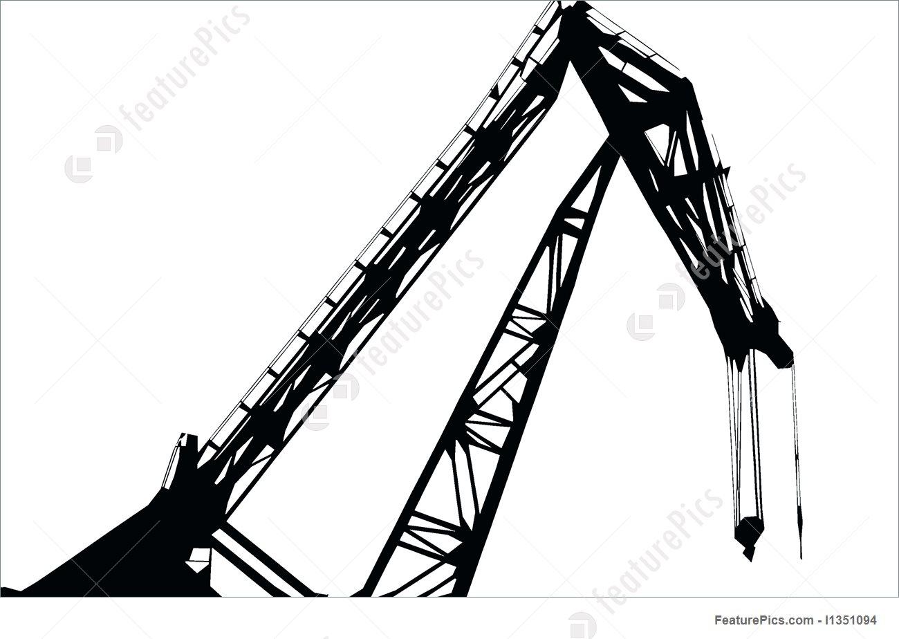 1300x924 Crane Silhouette Stock Image I1351094