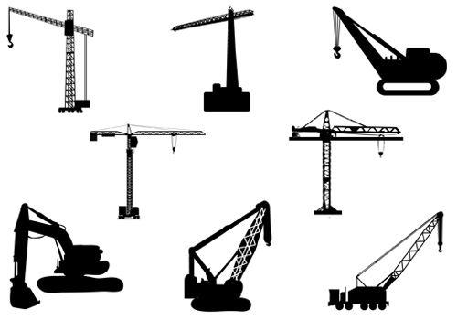 500x350 Crane Vector Silhouette