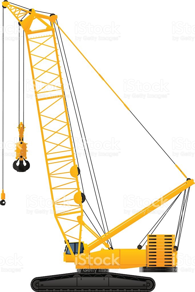 683x1024 Crane Clipart Working