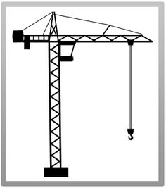 236x267 Building Tower Crane Icon, Flat Design. Raster Copy Of Vector File