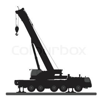 320x320 Crane. Silhouette On A White Background. Stock Vector Colourbox