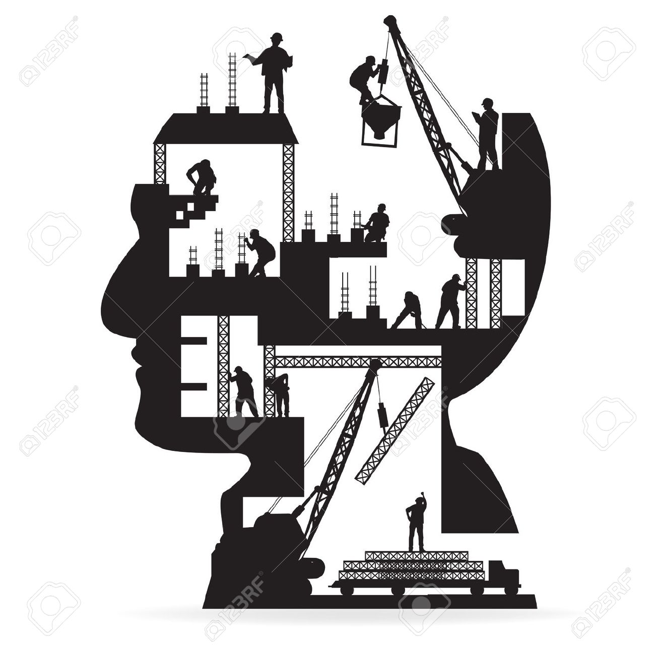 1300x1290 Industrial Clipart Building Construction Site