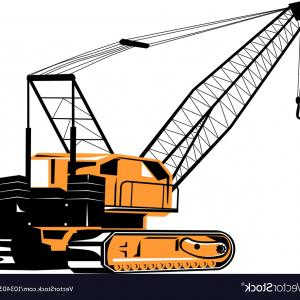 300x300 Silhouette Of A Tower Crane Vector Clipart Arenawp
