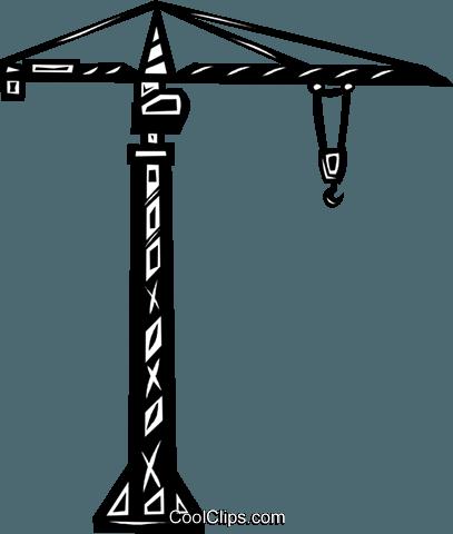 407x480 Construction Crane Royalty Free Vector Clip Art Illustration